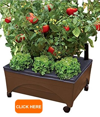 Earth Brown Resin Raised Garden Bed Grow Box1